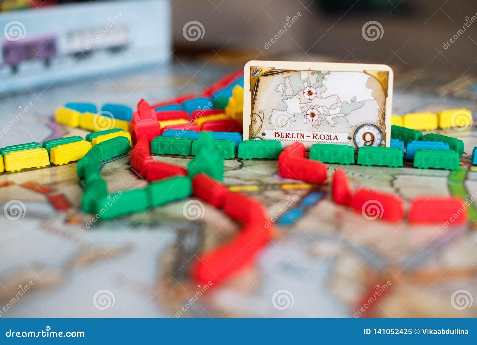 Εισιτήριο για να οδηγήσει το επιτραπέζιο παιχνίδι