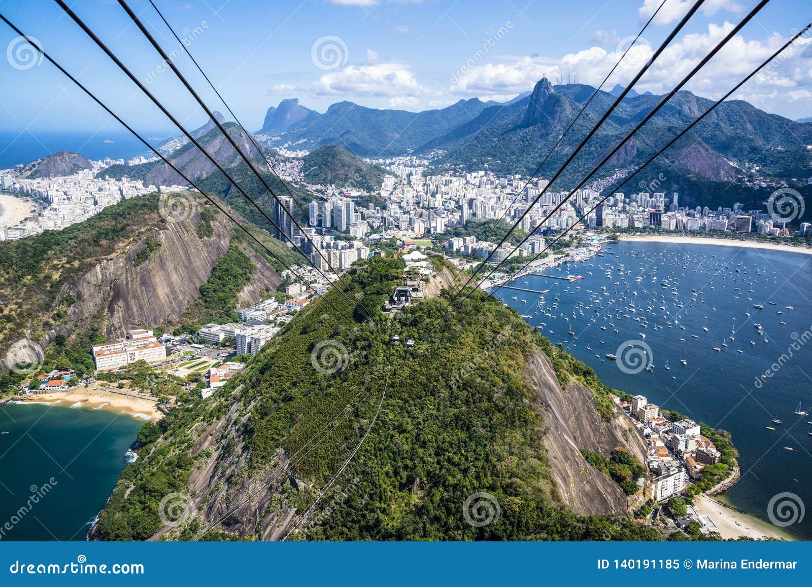Εναέρια άποψη του Ρίο, Ρίο ντε Τζανέιρο, Βραζιλία