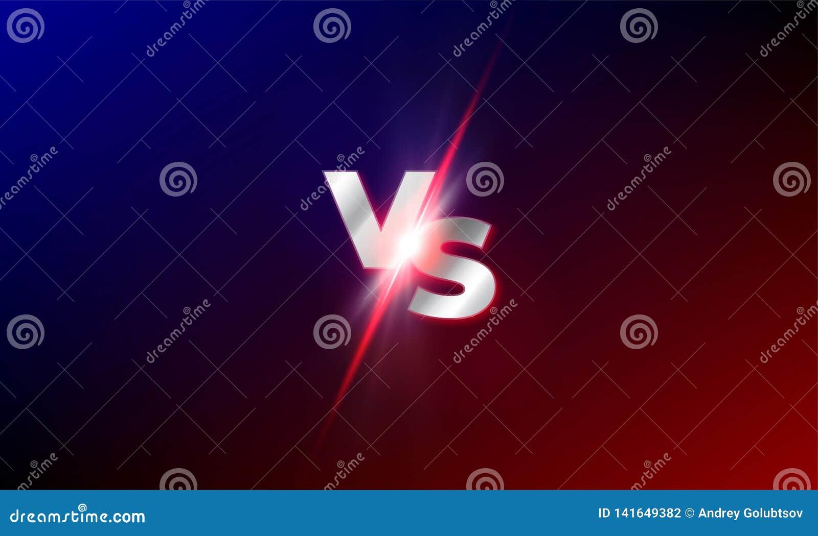 ΕΝΑΝΤΙΟΝ εναντίον του διανυσματικού υποβάθρου Κόκκινος και μπλε ανταγωνισμός πάλης mma ΕΝΑΝΤΙΟΝ του ελαφριού σπινθηρίσματος φυσήμ