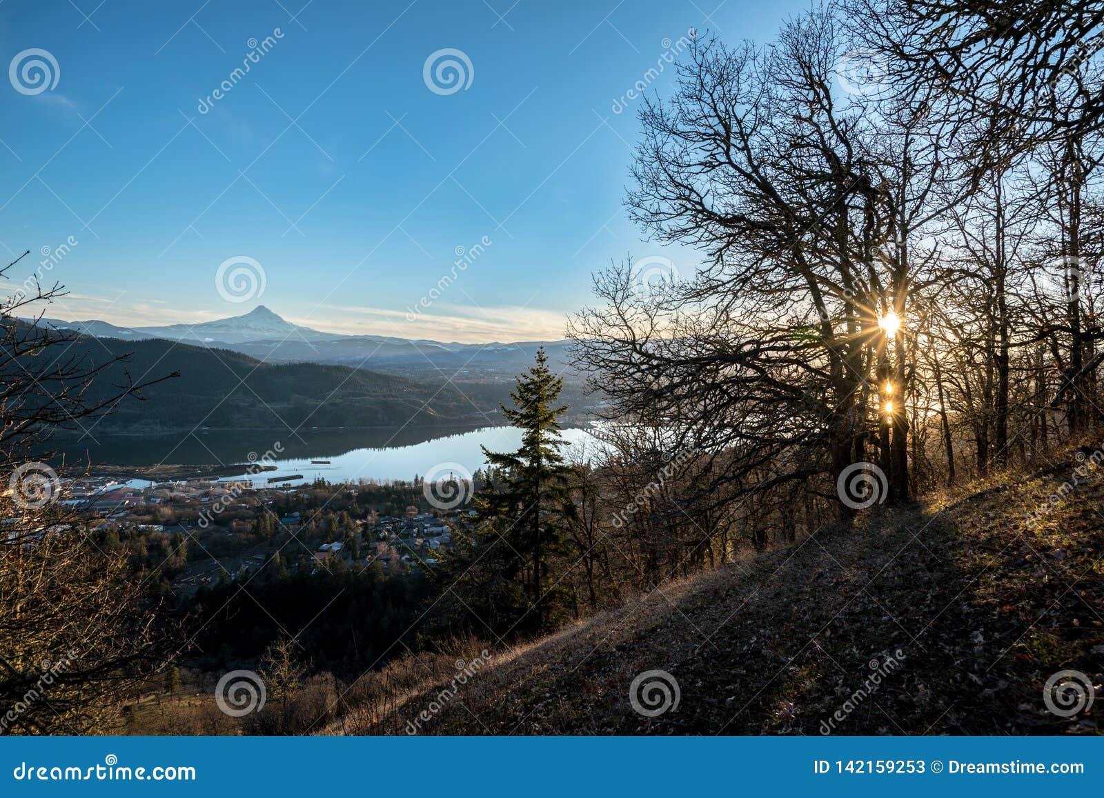 Ηλιοβασίλεμα ποταμών κουκουλών