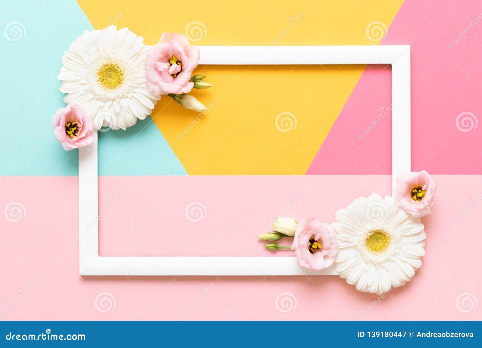 Ημέρα της ευτυχούς μητέρας, ημέρα των γυναικών, ημέρα του βαλεντίνου ή χρωματισμένο κρητιδογραφία υπόβαθρο γενεθλίων Επίπεδος βάλ