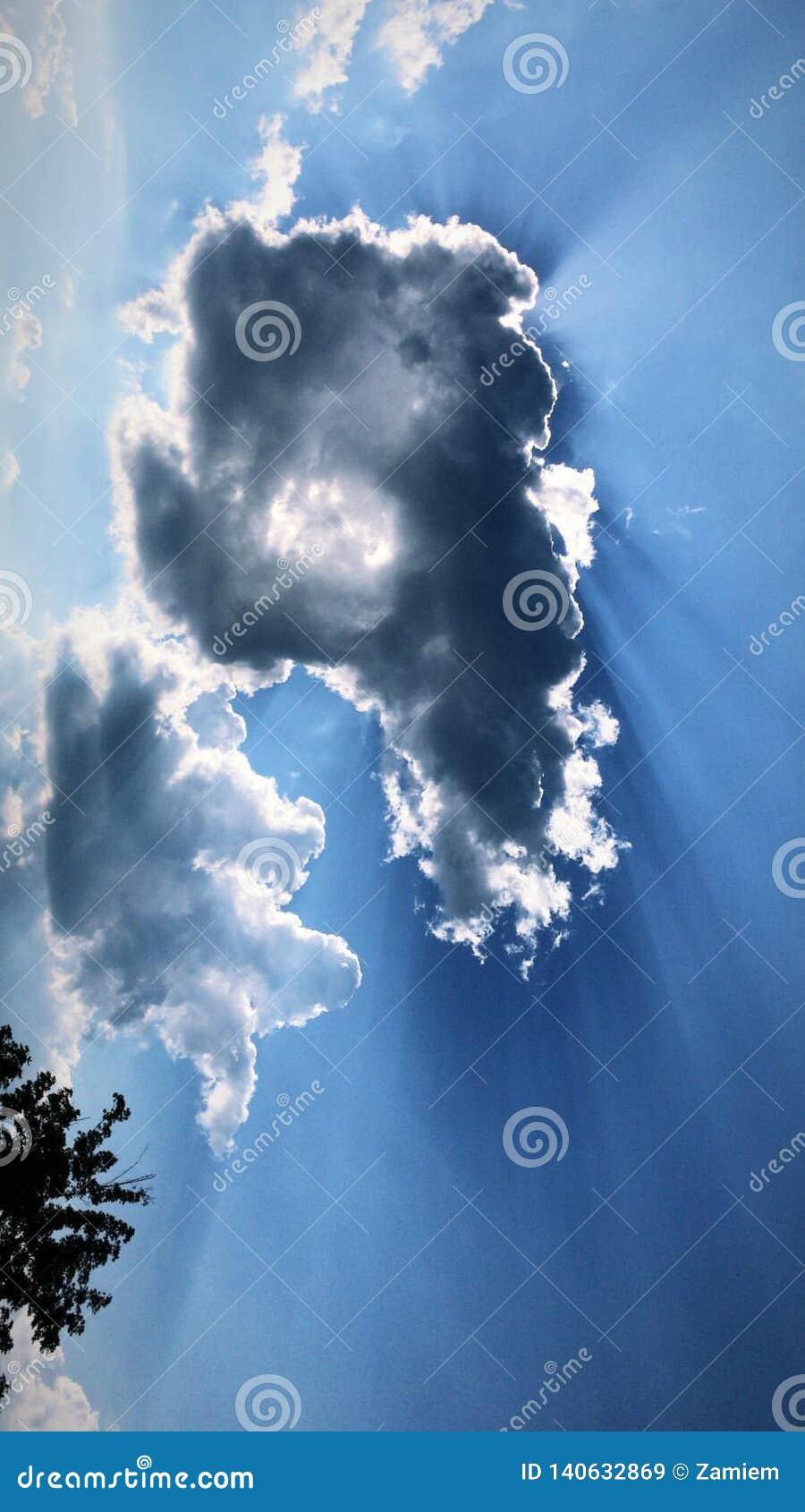 Ημέρα που ονειρεύεται τον υψηλό ουρανό ανόδου