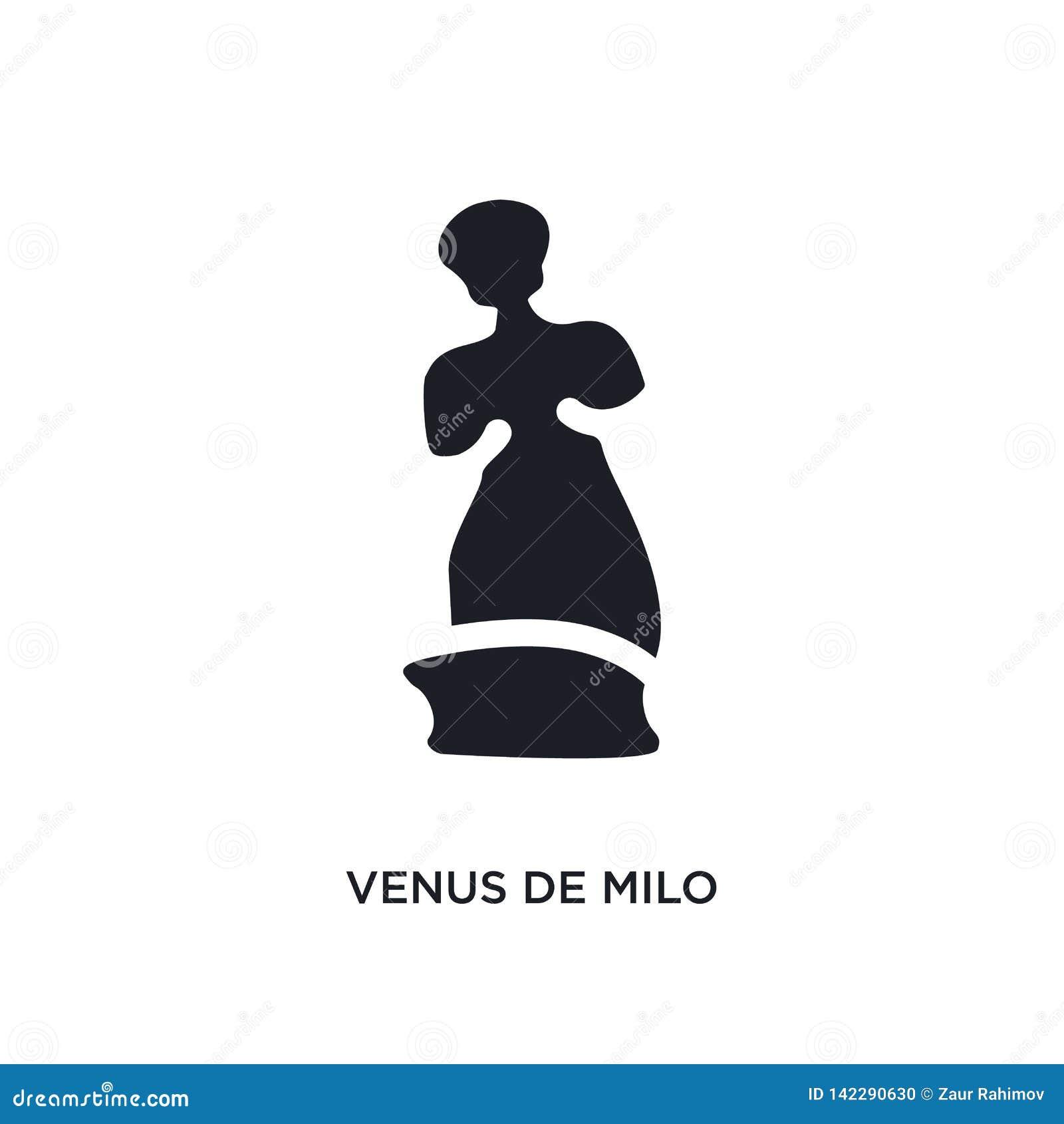 η Αφροδίτη de milo απομόνωσε το εικονίδιο απλή απεικόνιση στοιχείων από τα εικονίδια έννοιας μουσείων editable σχέδιο συμβόλων ση