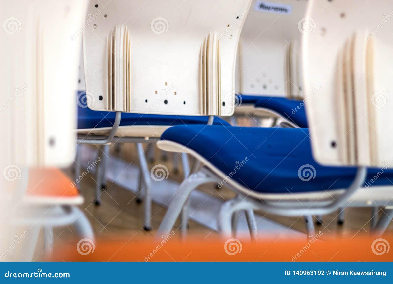 Θαμπάδων αφηρημένο υπόβαθρο άποψης εστίασης πίσω της έδρας