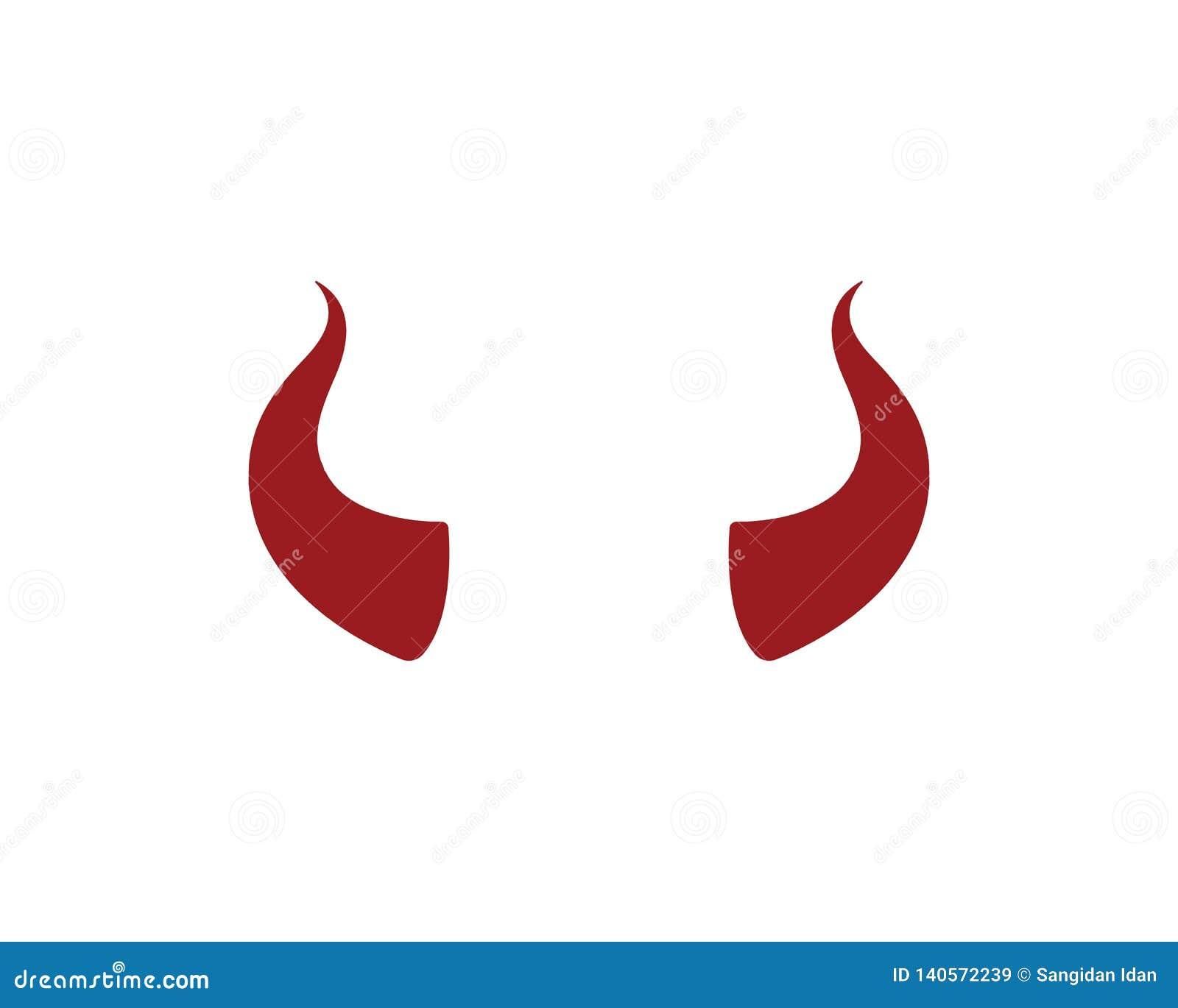 κέρατο διαβόλων, ζωικό διάνυσμα εικονιδίων λογότυπων κέρατων