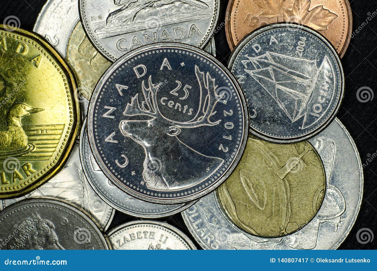 Καναδικά νομίσματα κινηματογραφήσεων σε πρώτο πλάνο