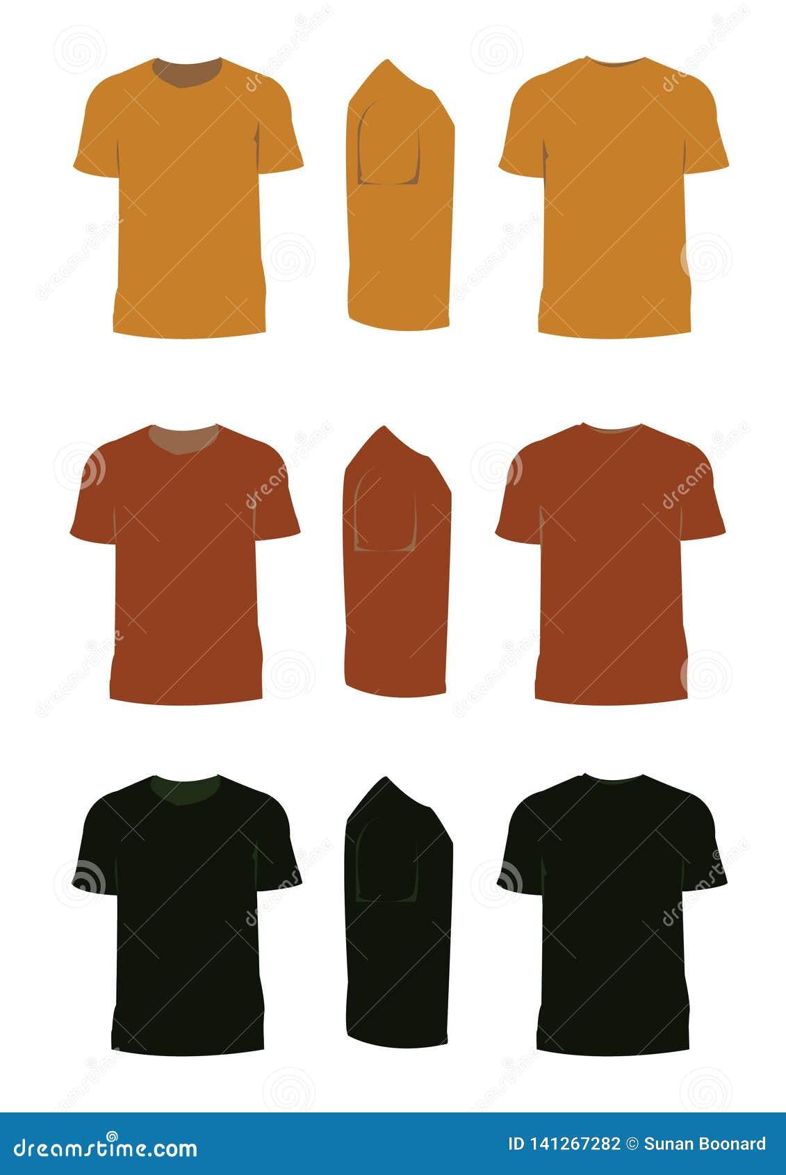 Καφετής τόνος μπλουζών για το σχέδιο