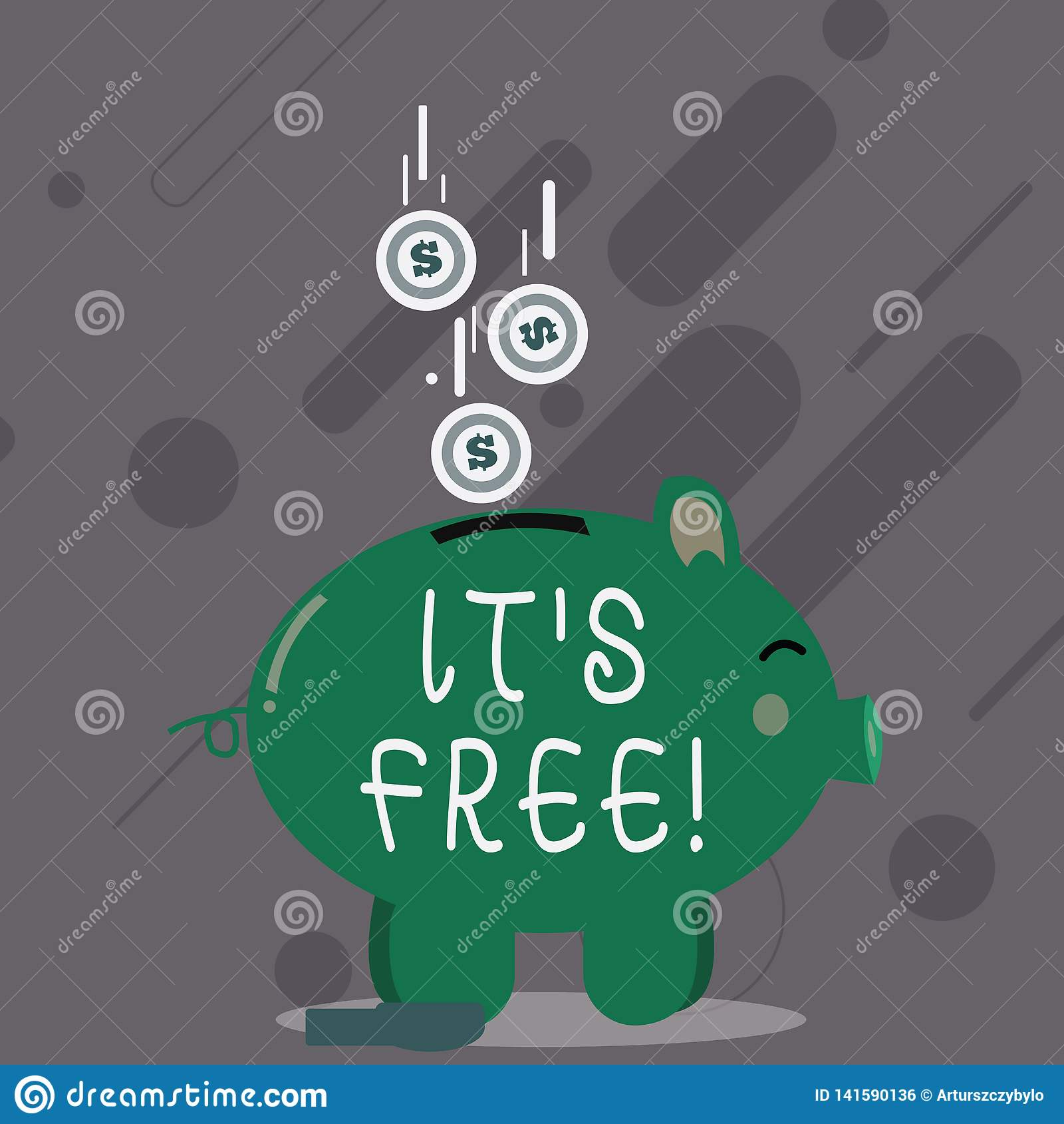 Κείμενο γραψίματος λέξης αυτό S ελεύθερο Η επιχειρησιακή έννοια για το προϊόν μπορεί να αγοραστεί με κανένα νομισματικό κόστος