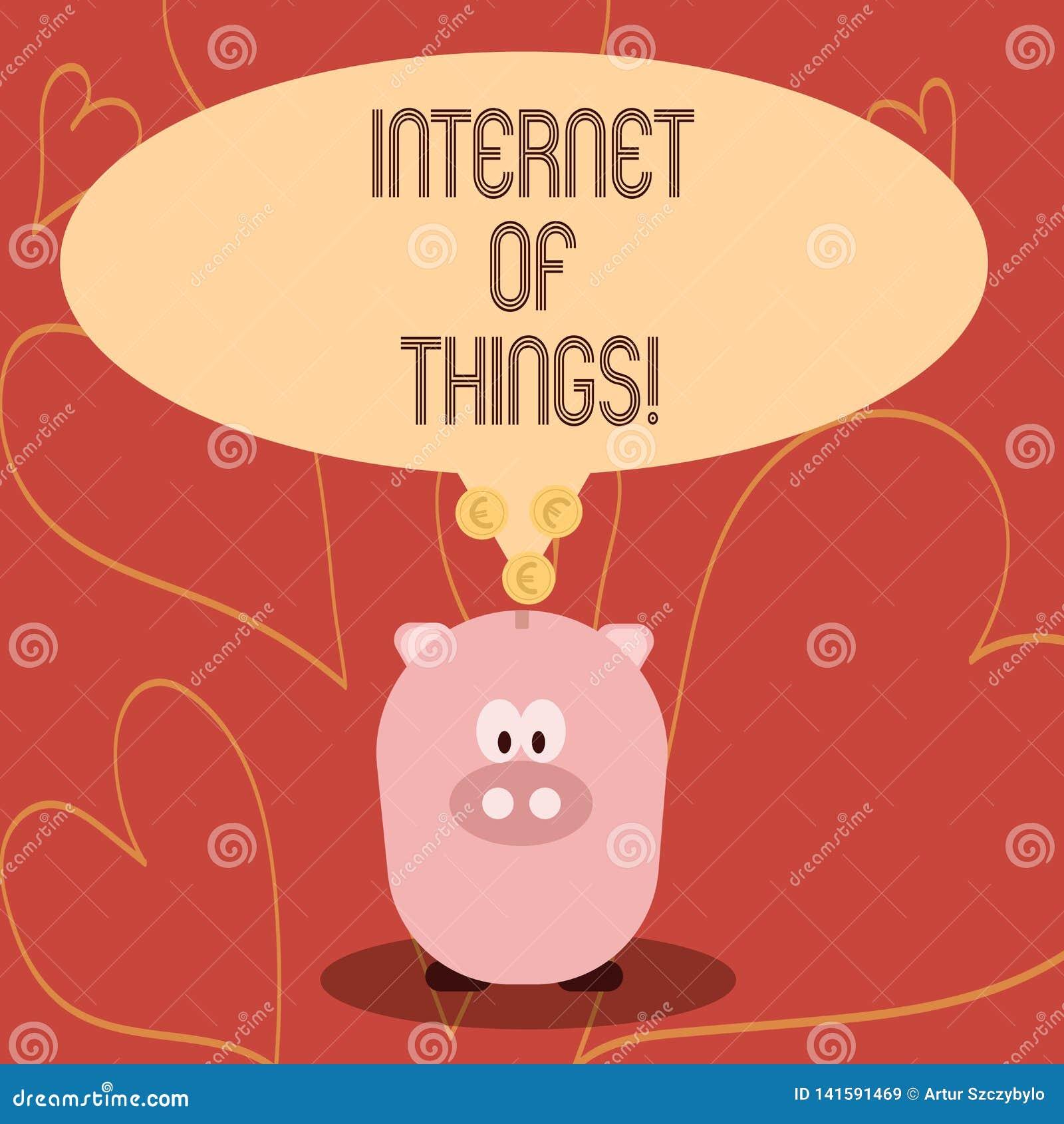 Κείμενο γραφής που γράφει Διαδίκτυο των πραγμάτων Έννοια που σημαίνει την ψηφιακή συνδετικότητα ηλεκτρονικής παγκοσμιοποίησης και
