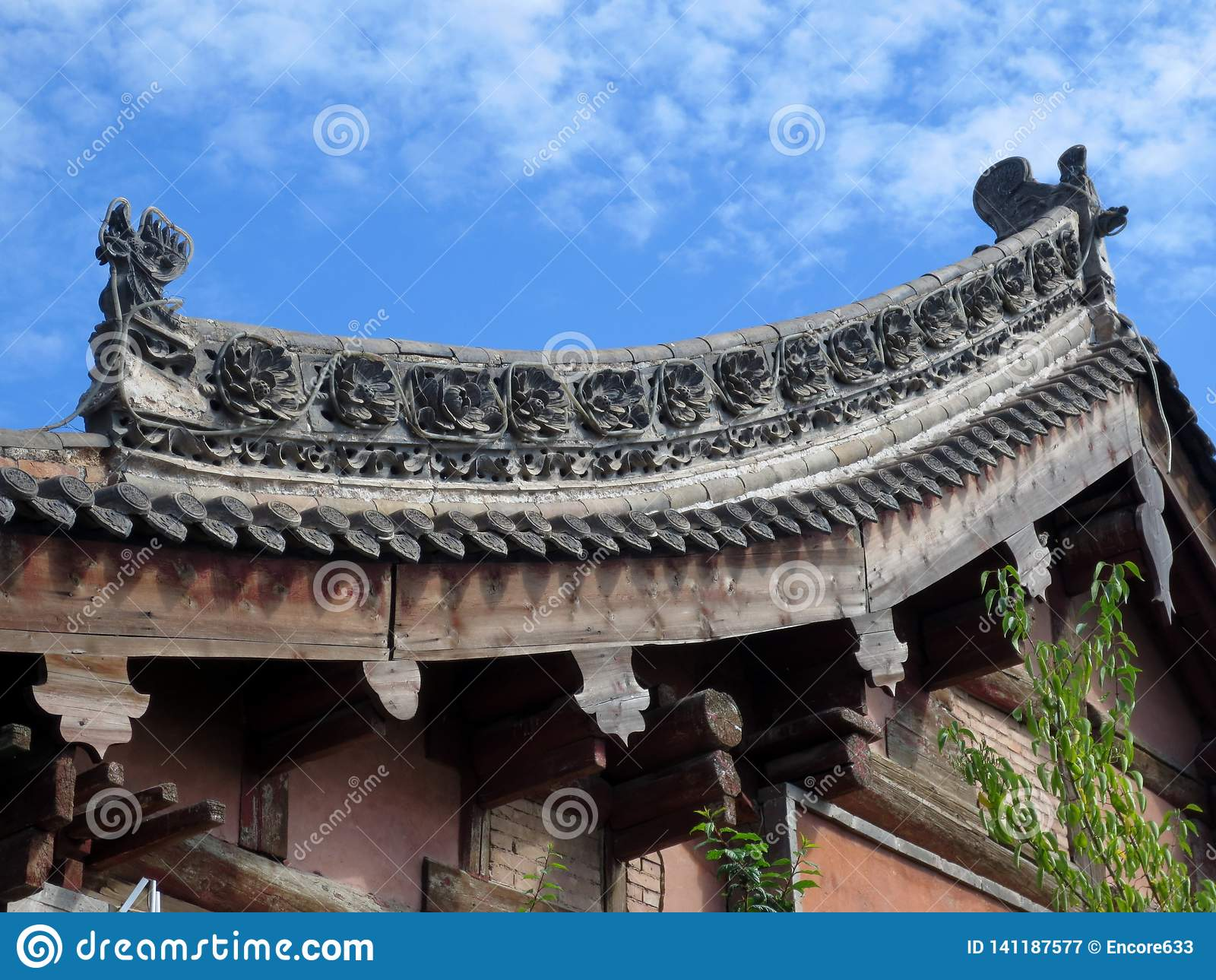 Κινεζική στέγη παραδοσιακού κτηρίου
