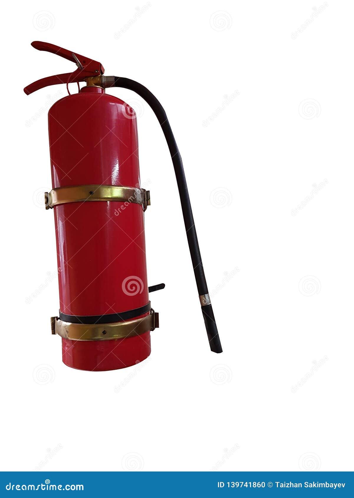 Κόκκινη πυρκαγιά extinguiser που απομονώνεται στο λευκό