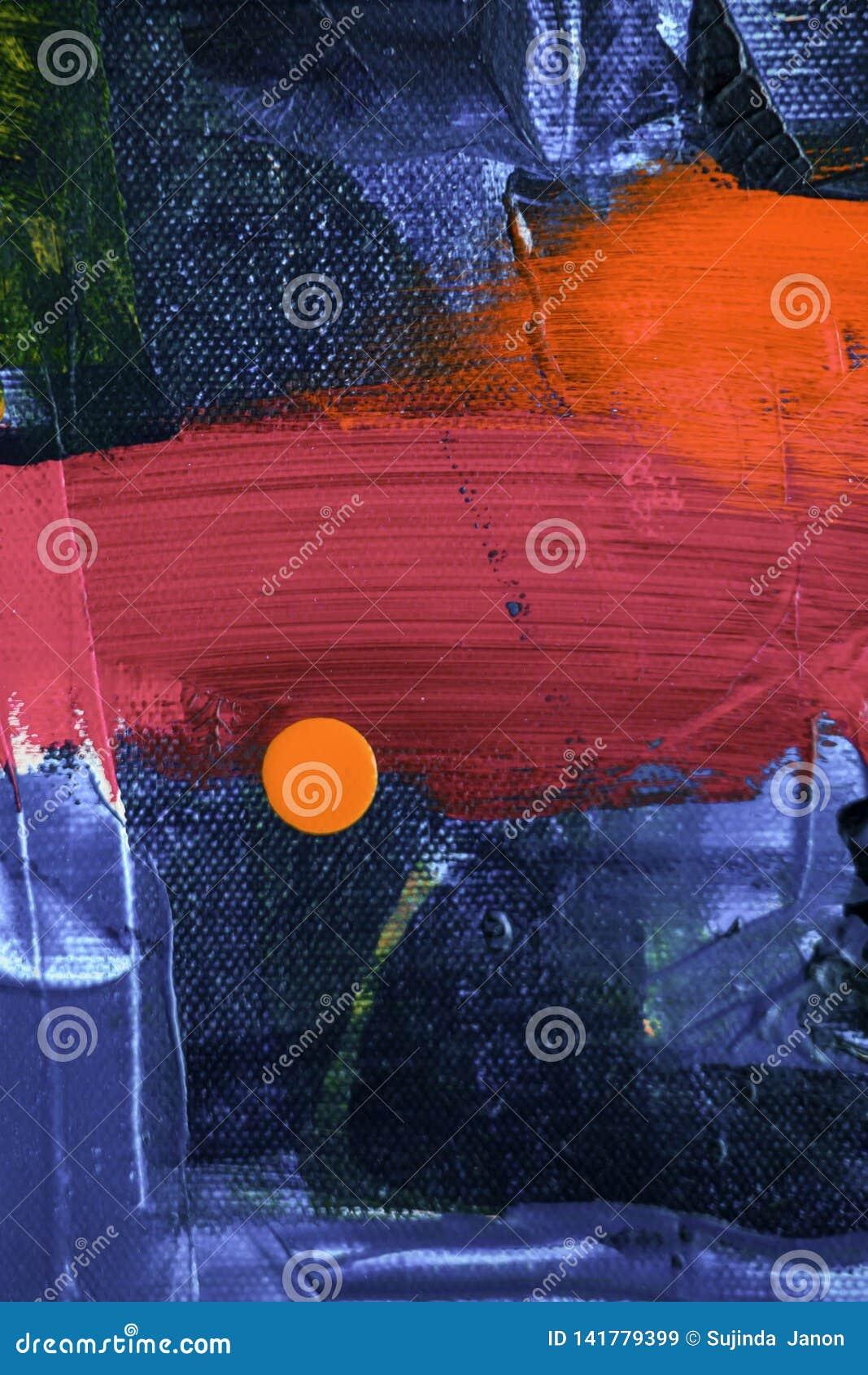 Κόκκινο και μπλε χρώμα χρωμάτων, αφηρημένο ύφος