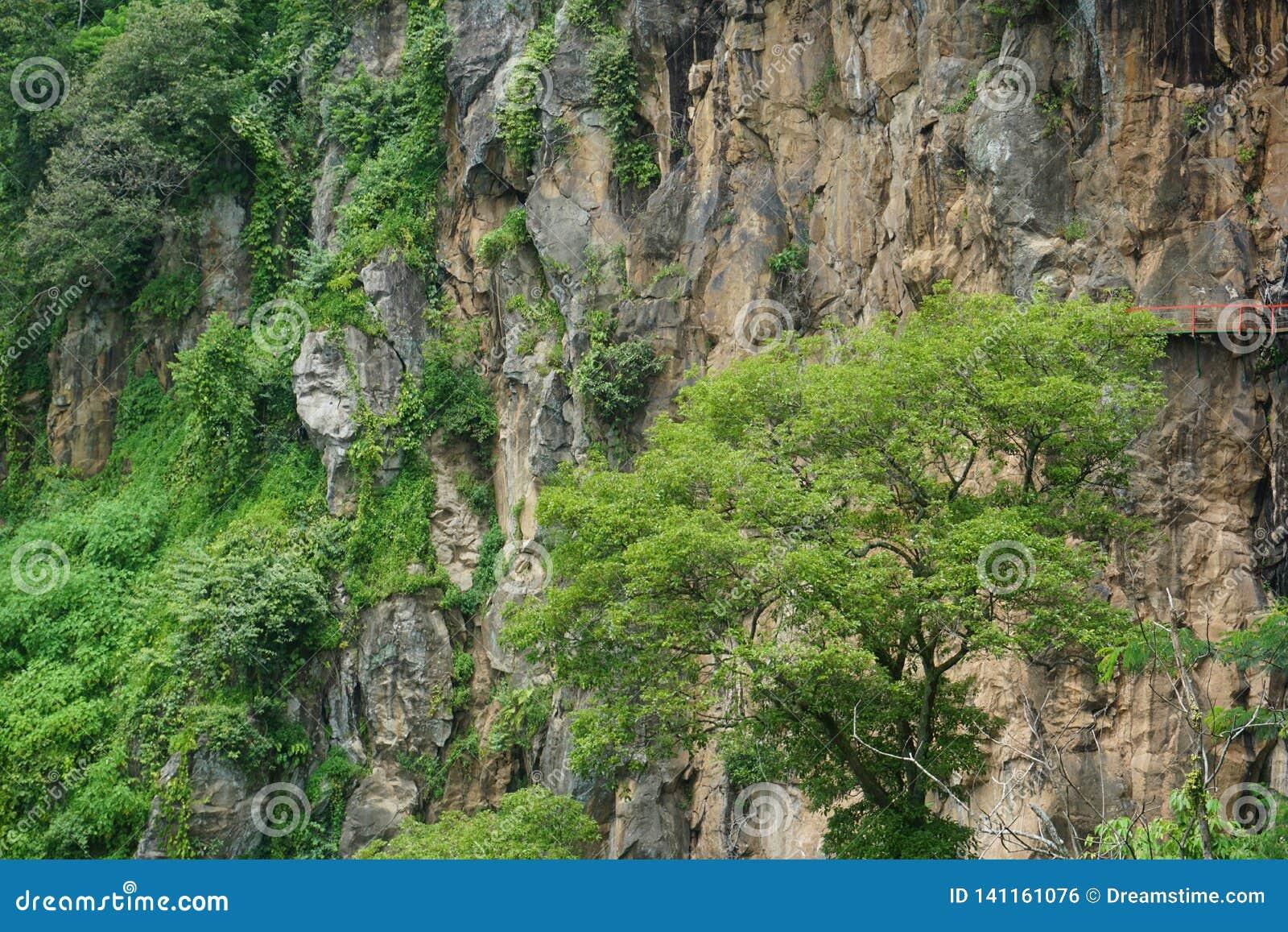 μεγάλοι μαρμάρινοι απότομοι βράχοι