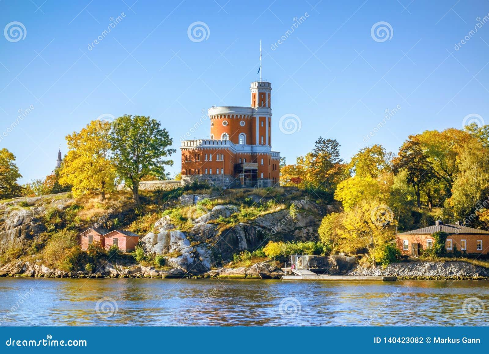 μικρό κάστρο στη Στοκχόλμη Σουηδία