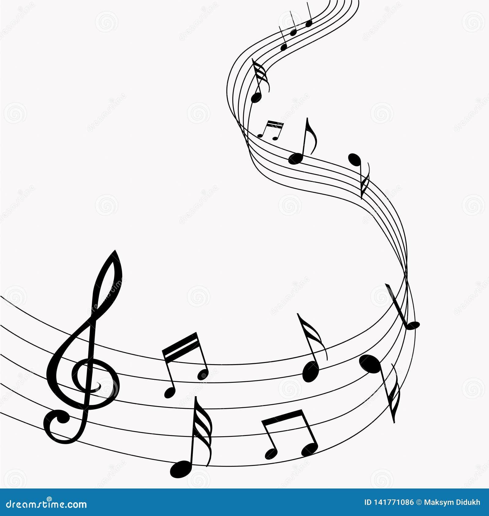 μουσικό διάνυσμα σημειώσ& μουσική Γκρίζα ανασκόπηση επίσης corel σύρετε το διάνυσμα απεικόνισης 10 eps