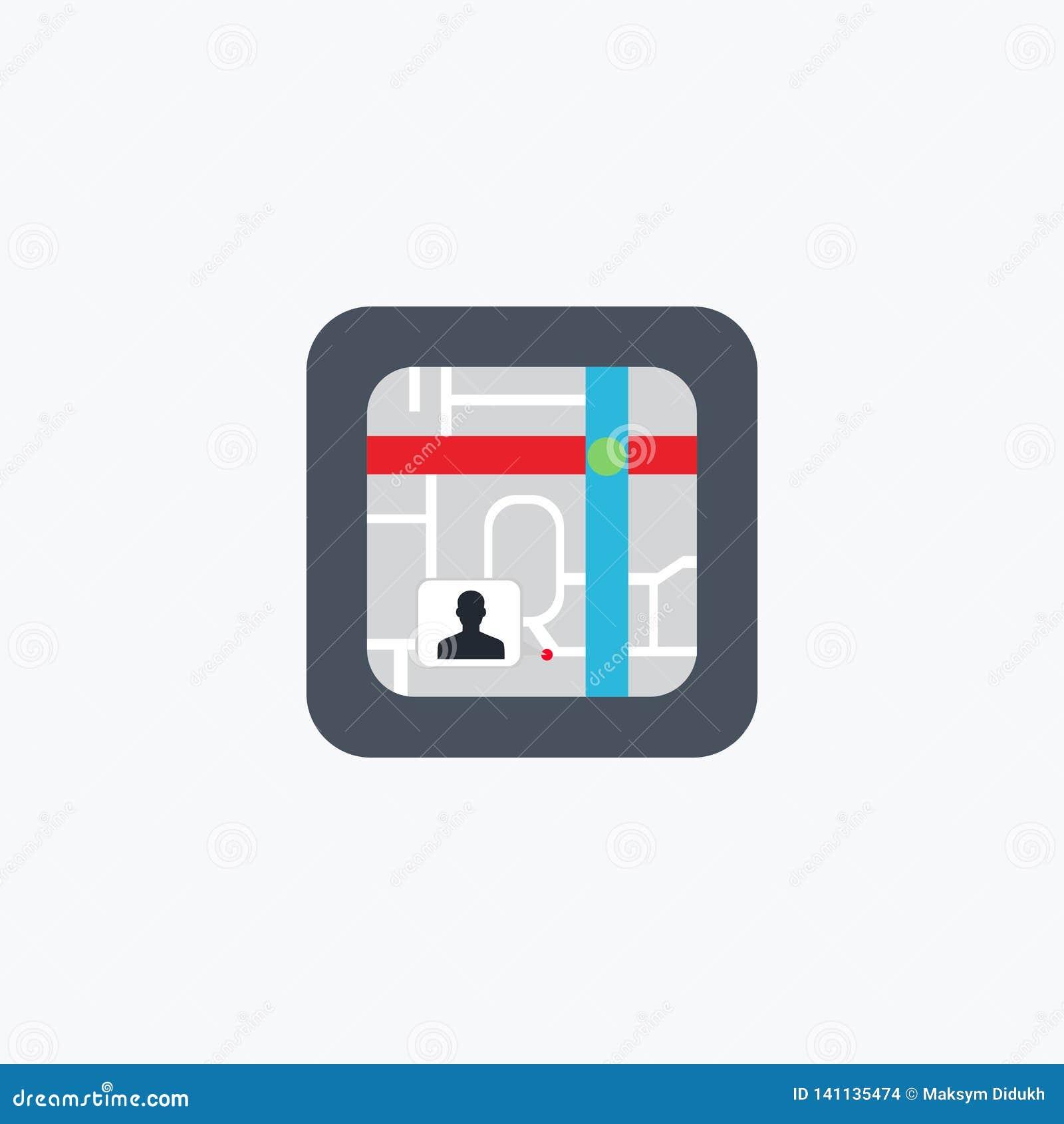 Ναυσιπλοΐα χαρτών πόλεων εικονίδιο ΛΟΓΟΤΥΠΟ επίσης corel σύρετε το διάνυσμα απεικόνισης 10 eps