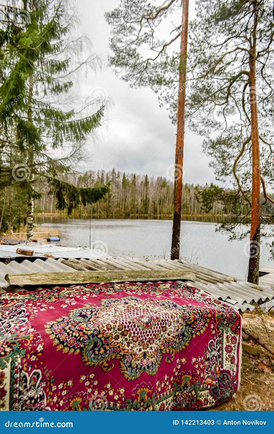 Δασικό τοπίο με την παλαιά άποψη ταπήτων και λιμνών