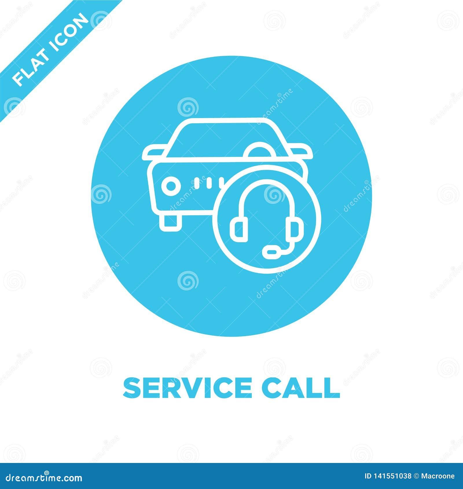 διάνυσμα εικονιδίων κλήσης υπηρεσιών Λεπτή διανυσματική απεικόνιση εικονιδίων περιλήψεων πρόσκλησης υπηρεσιών γραμμών σύμβολο κλή