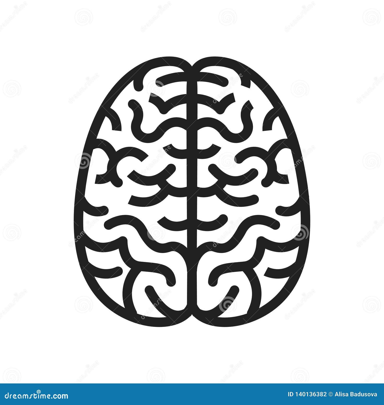Διανυσματική έννοια απεικόνισης του λαβύρινθου εικονιδίων εγκεφάλου Εικονίδιο στο πράσινο υπόβαθρο