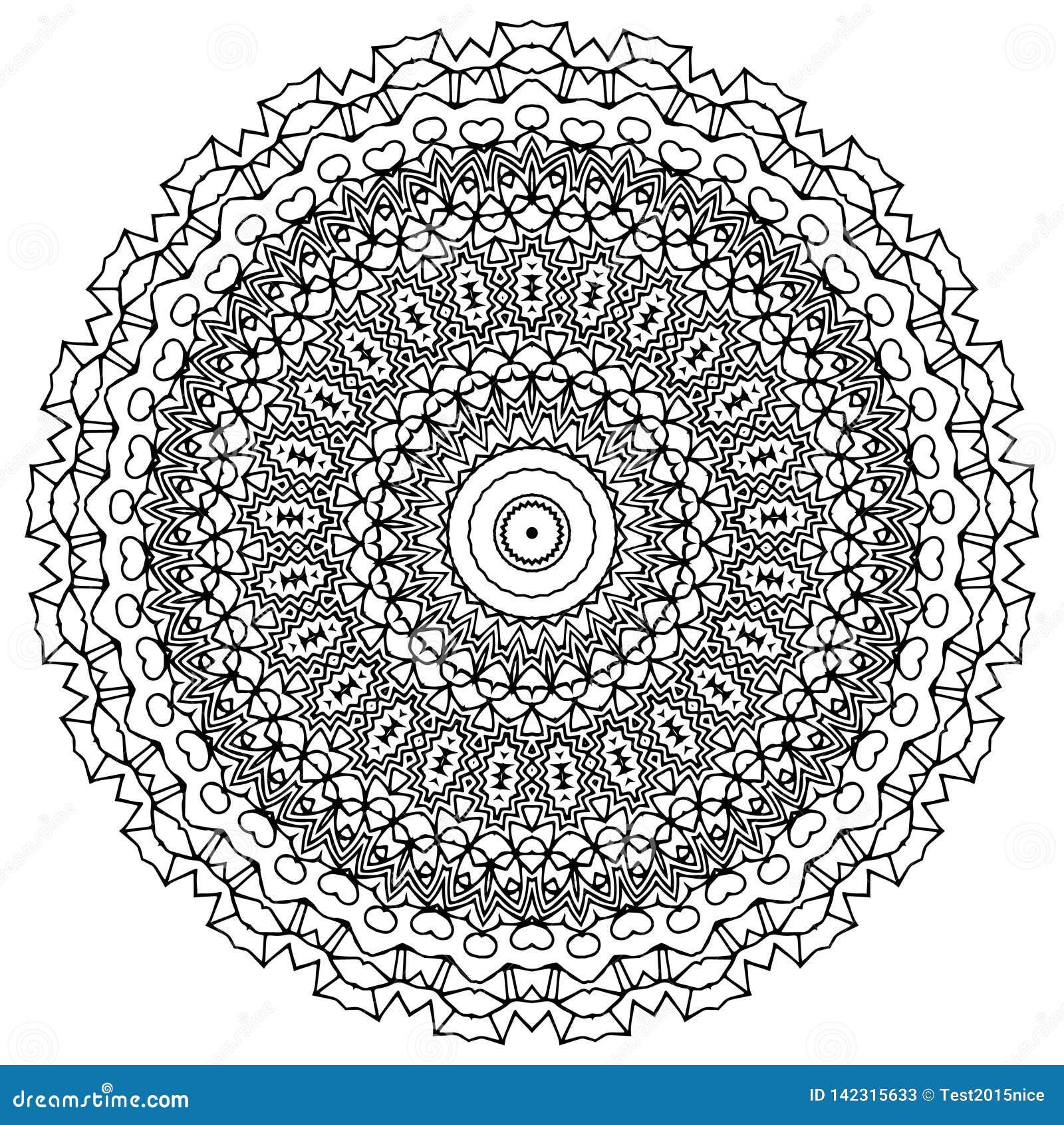 Διανυσματική τέχνη Mandala, διαμορφωμένα λουλούδια