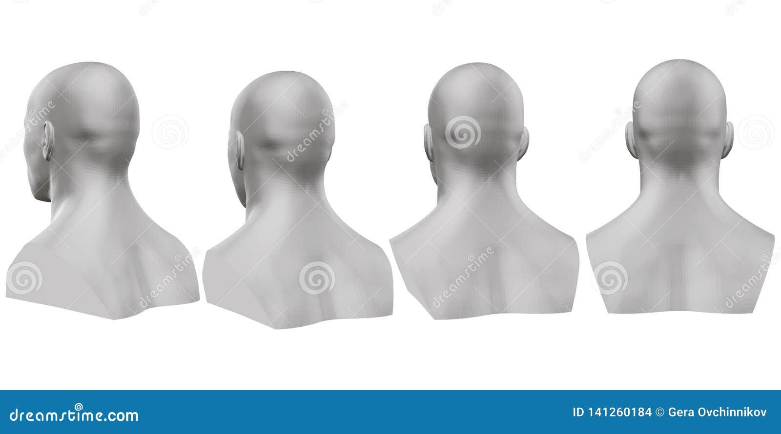 Διανυσματικό σύνολο απομονωμένων αρσενικών αποτυχιών των μανεκέν στο άσπρο υπόβαθρο τρισδιάστατος Αρσενική αποτυχία από τις διαφο