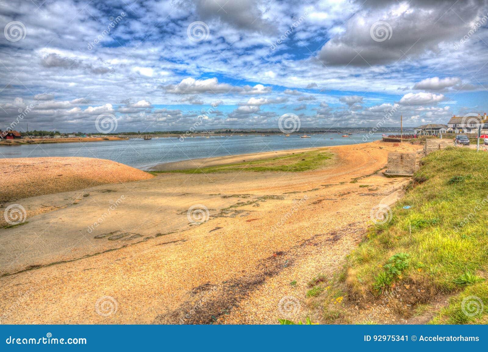 Cote Sud Angleterre Île de hayling de port de langstone près de côte sud de portsmouth