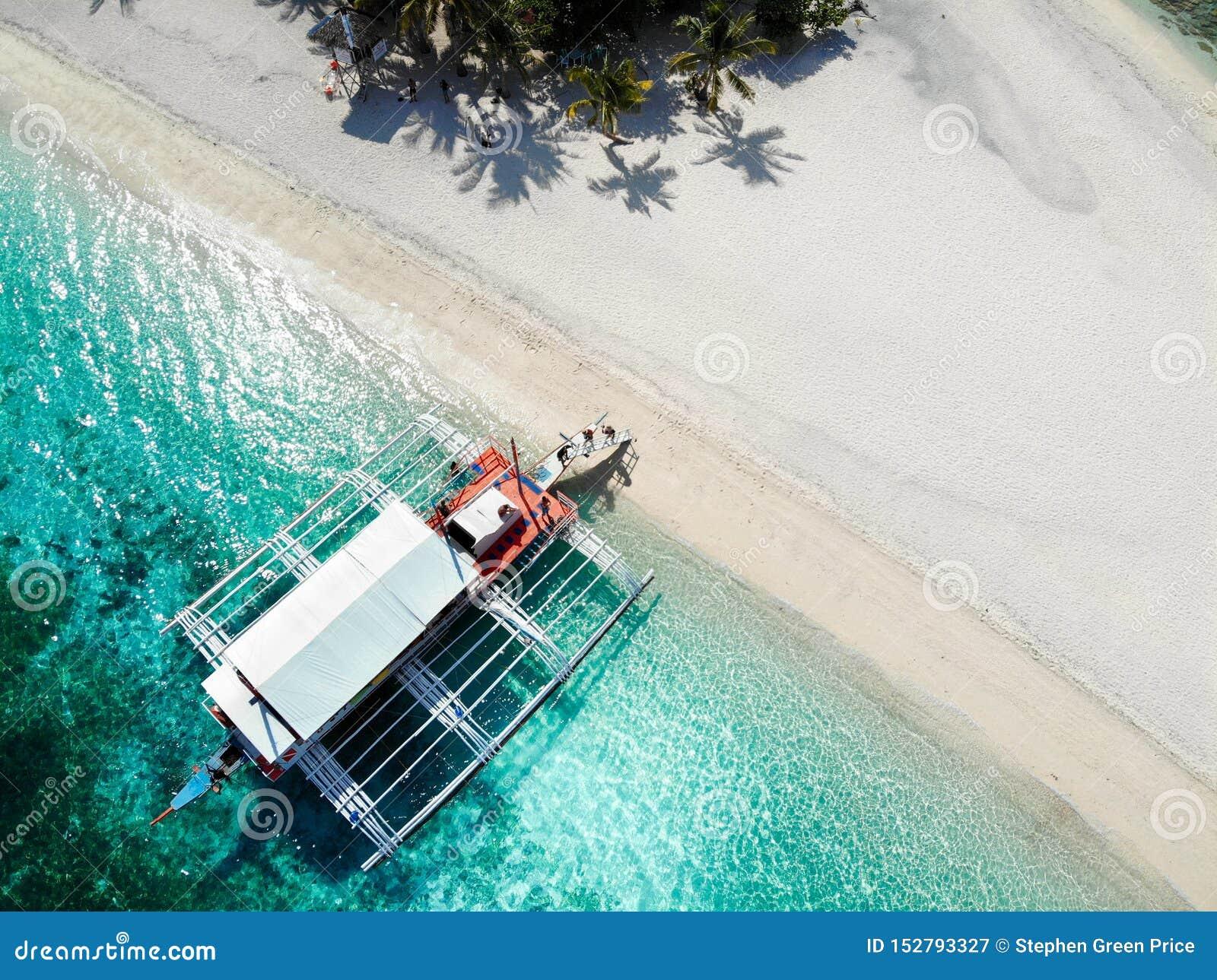 Île de Kalanggaman de au-dessus - des Philippines