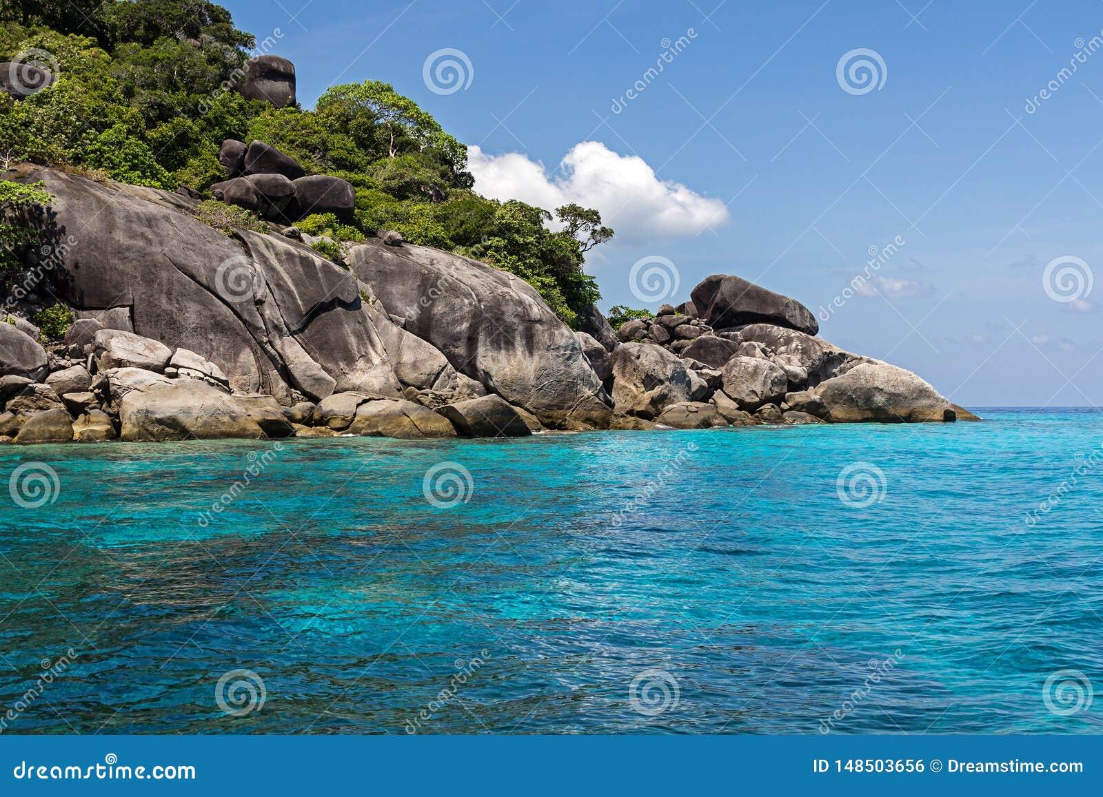 Île de Similan en mer d Andaman, Thaïlande, l Asie du sud
