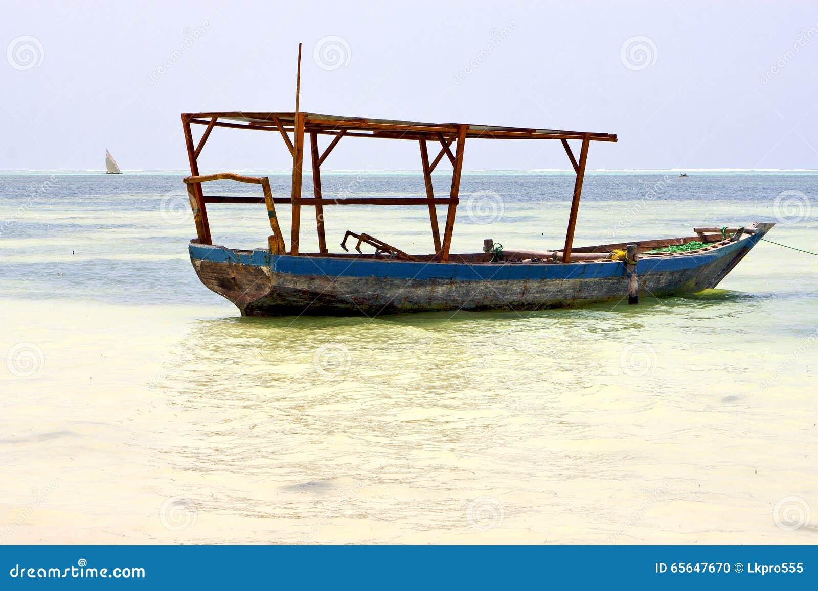 île et navigation de sable de Zanzibar Tanzanie de plage