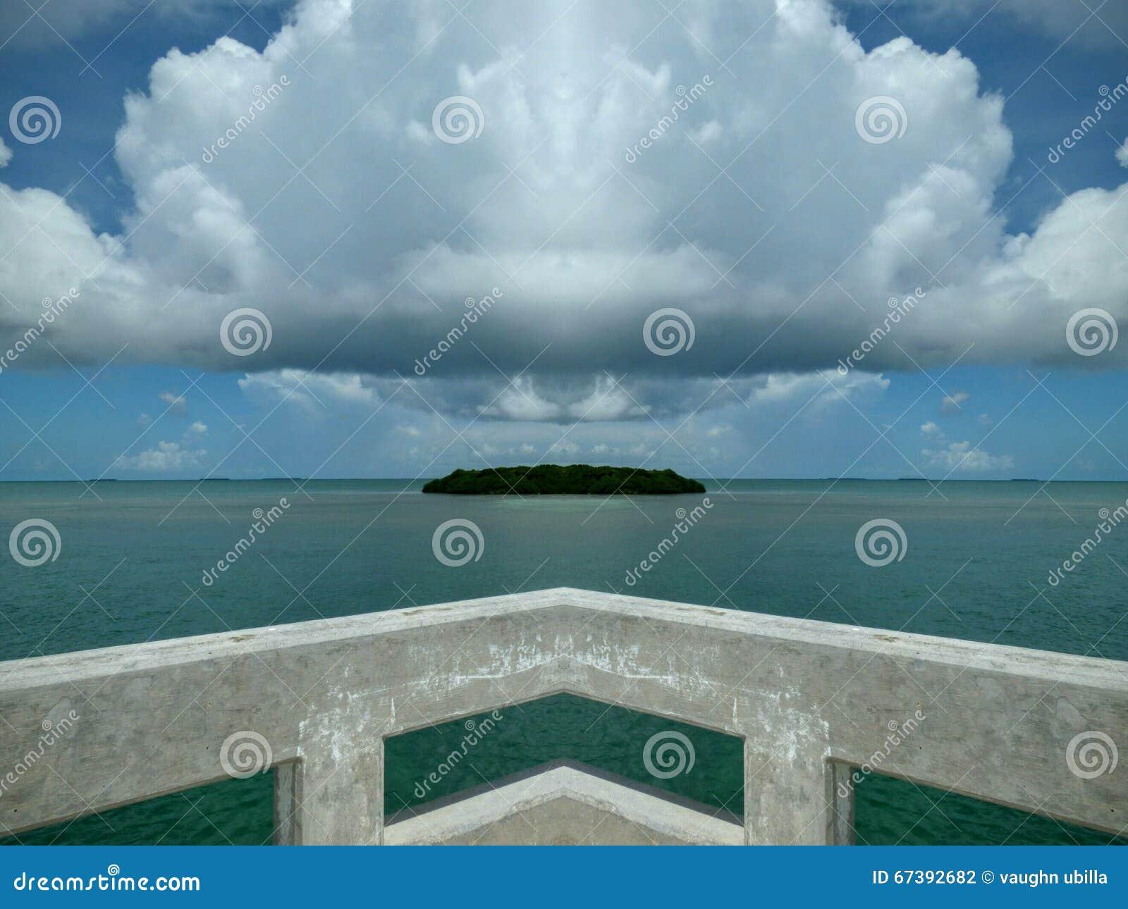 Île faisante le coin aucun filtre