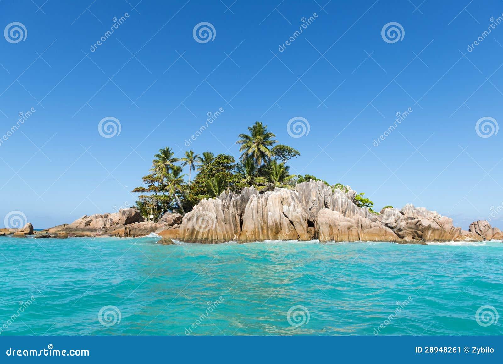 Île tropicale. Station balnéaire exotique calme