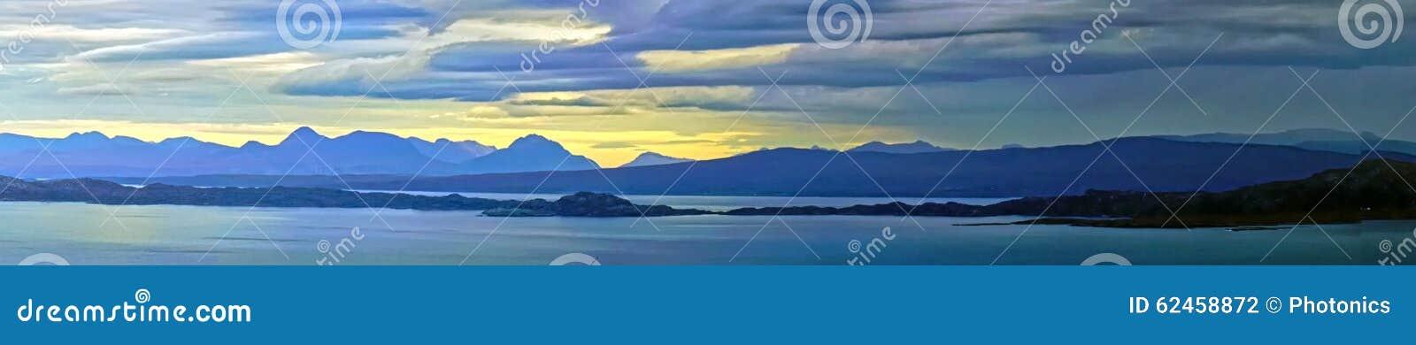 Îles écossaises de Skye dans le Hebrides