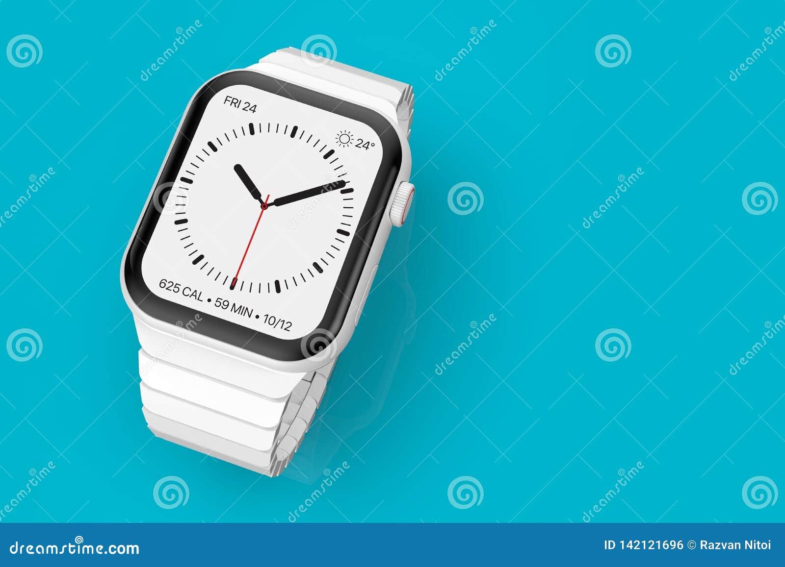 Ρολόι 4 της Apple άσπρη κεραμική πλασματική συσκευή φήμης, πρότυπο