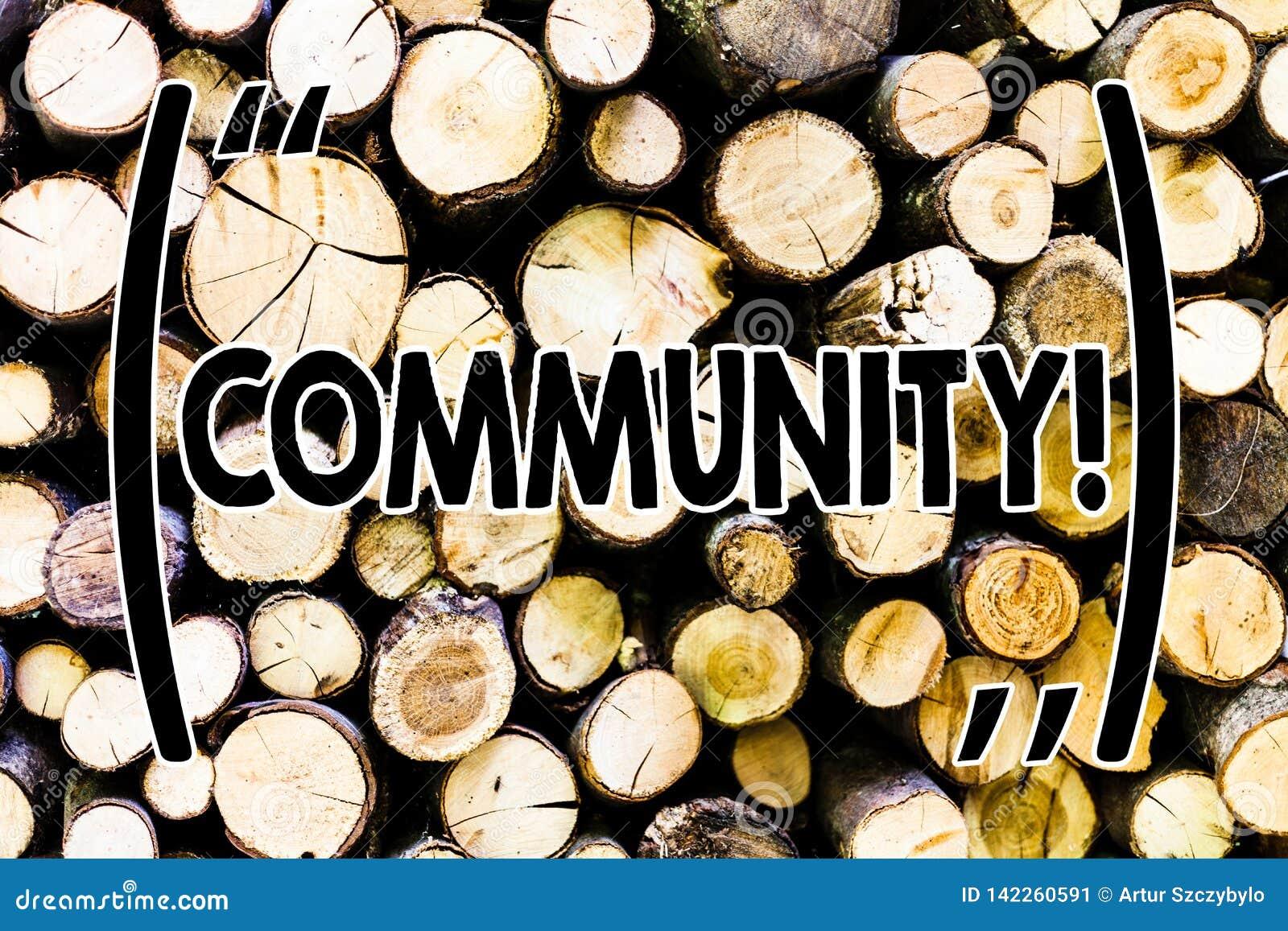Σημάδι κειμένων που παρουσιάζει Κοινότητα Εννοιολογική ομάδα ενότητας συμμαχίας κρατικών συνεταιρισμών ένωσης γειτονιάς φωτογραφι