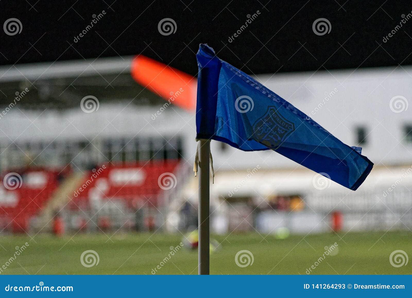Σημαία αθλητικών γωνιών στο μπλε