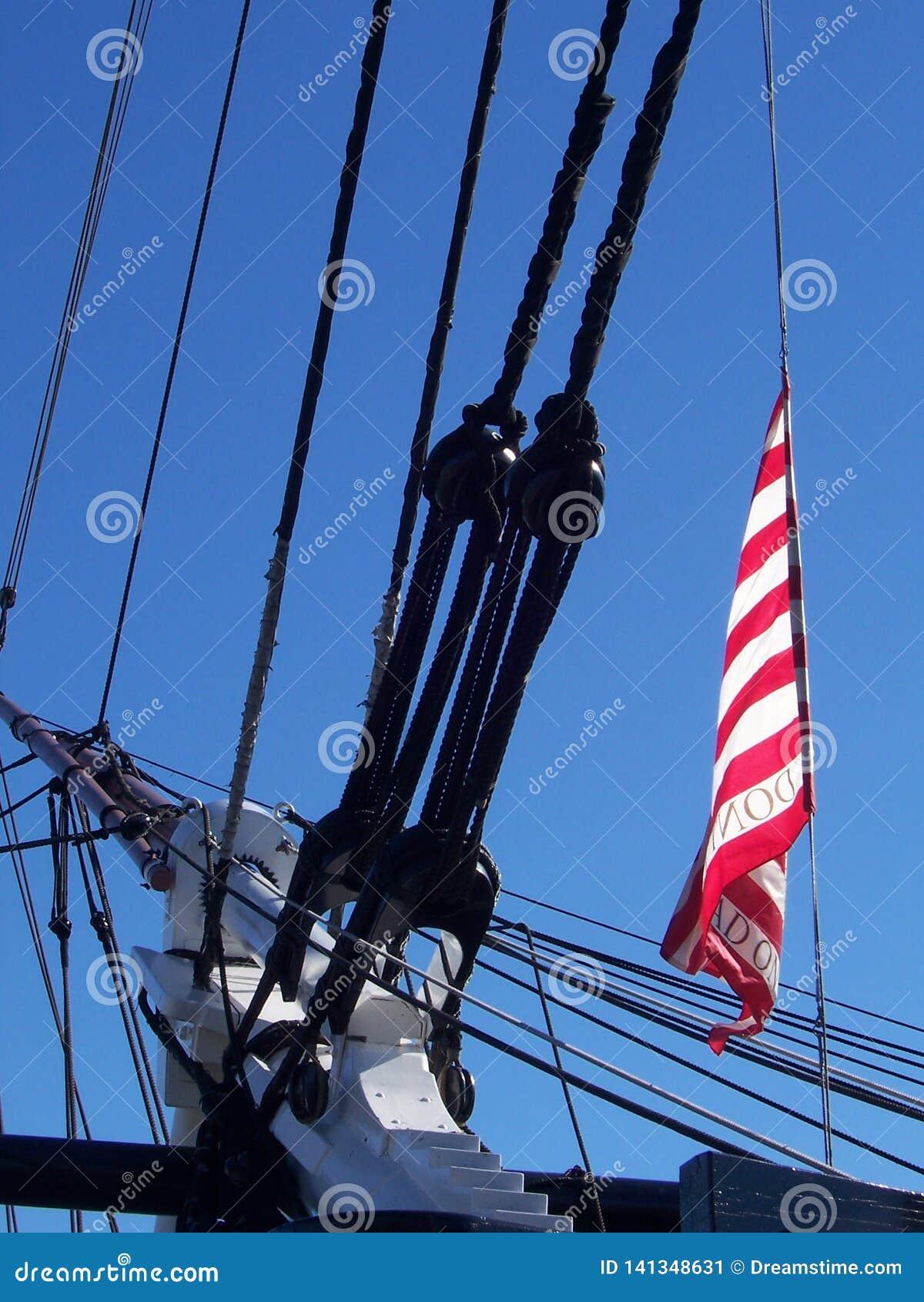 Σημαία στο σκάφος στη Βοστώνη