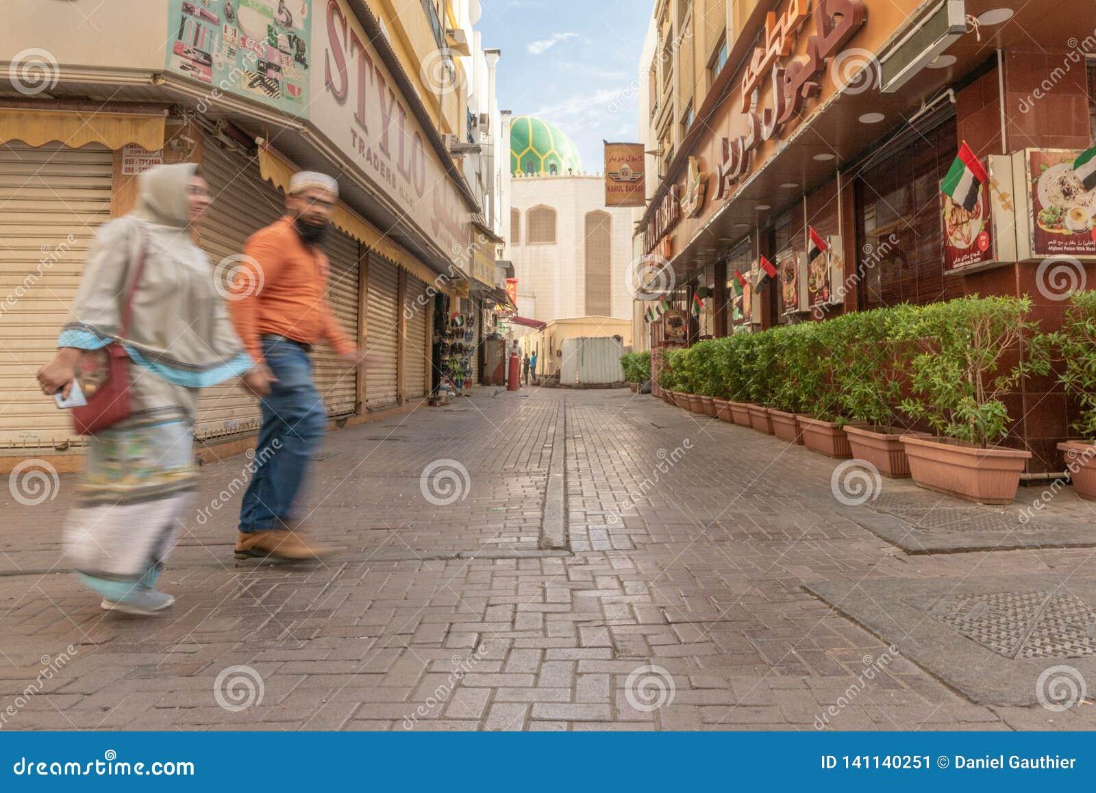 Σκηνή οδών στην περιοχή Deira, Ντουμπάι