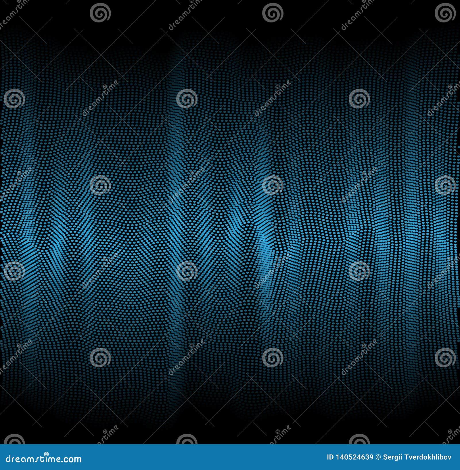 Σκοτεινό υπόβαθρο με τα λεπτά αφηρημένα κύματα από τις γραμμές διαφορετικών χρωμάτων Κάλυψη ή υπόβαθρο για την παρουσίαση