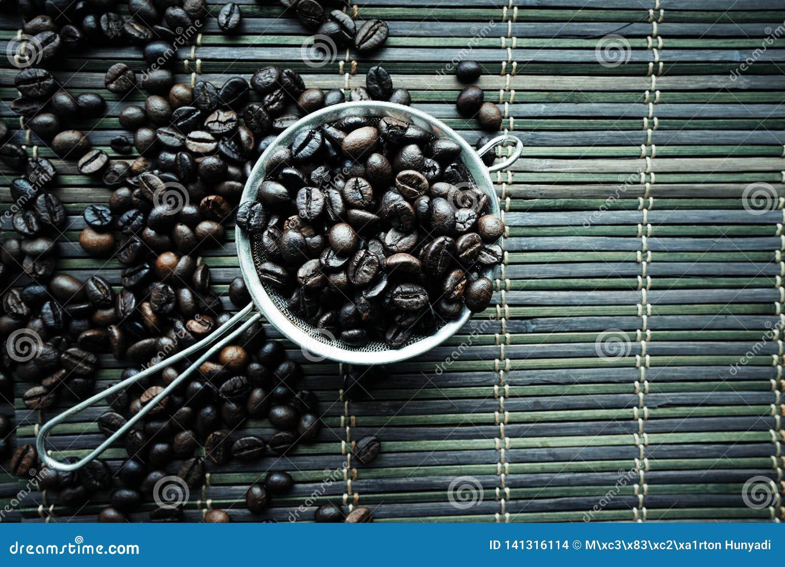 Ψημένη coffe σύσταση φασολιών