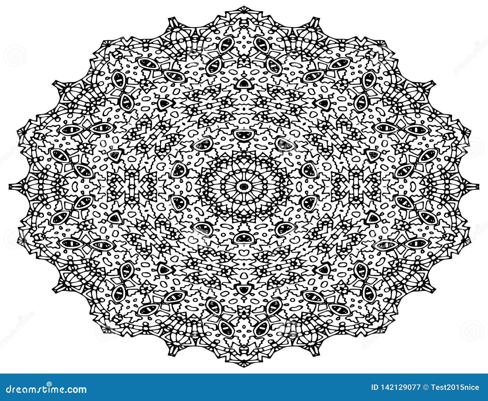 Τέχνη σχεδίων Mandala, διαμορφωμένα λουλούδια