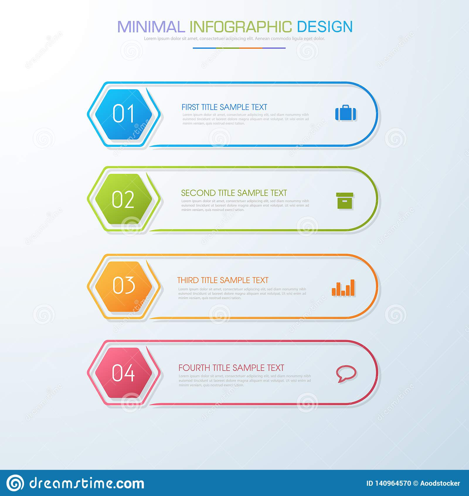 Τα στοιχεία Infographic με το επιχειρησιακό εικονίδιο στο πλήρες υπόβαθρο χρώματος επεξεργάζονται ή ροής της δουλειάς βημάτων και
