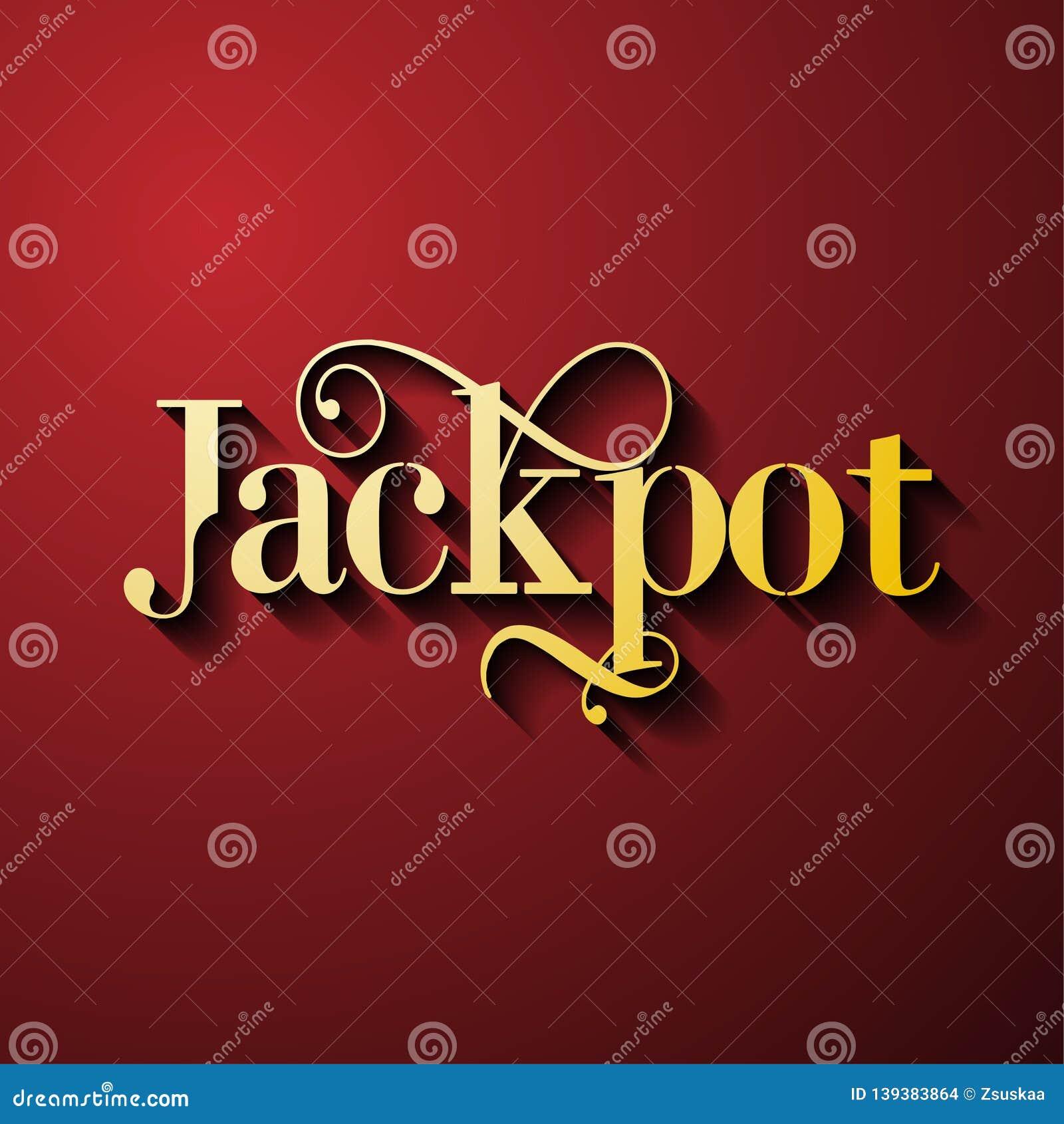 Τζακ ποτ - φωτεινό έμβλημα παιχνιδιών παιχνιδιού με τη νίκη
