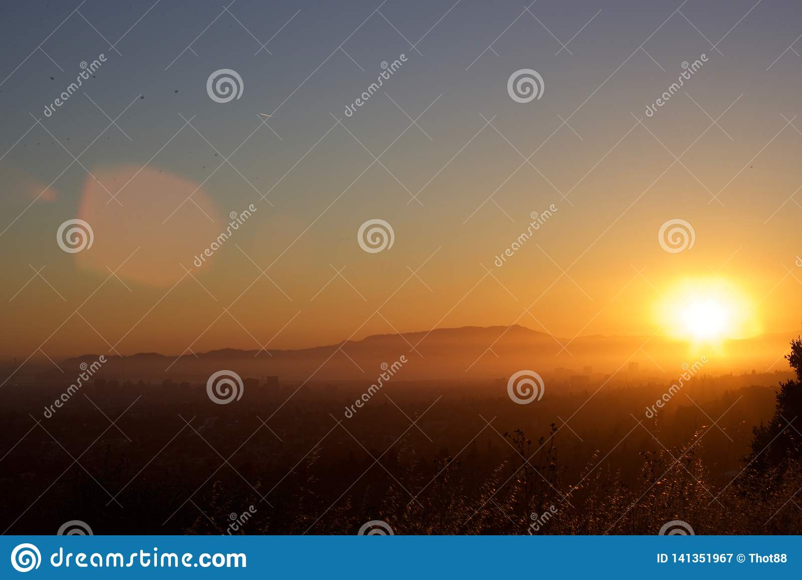 Τοποθετήστε Tam, πυροβολισμός ηλιοβασιλέματος Bay Area