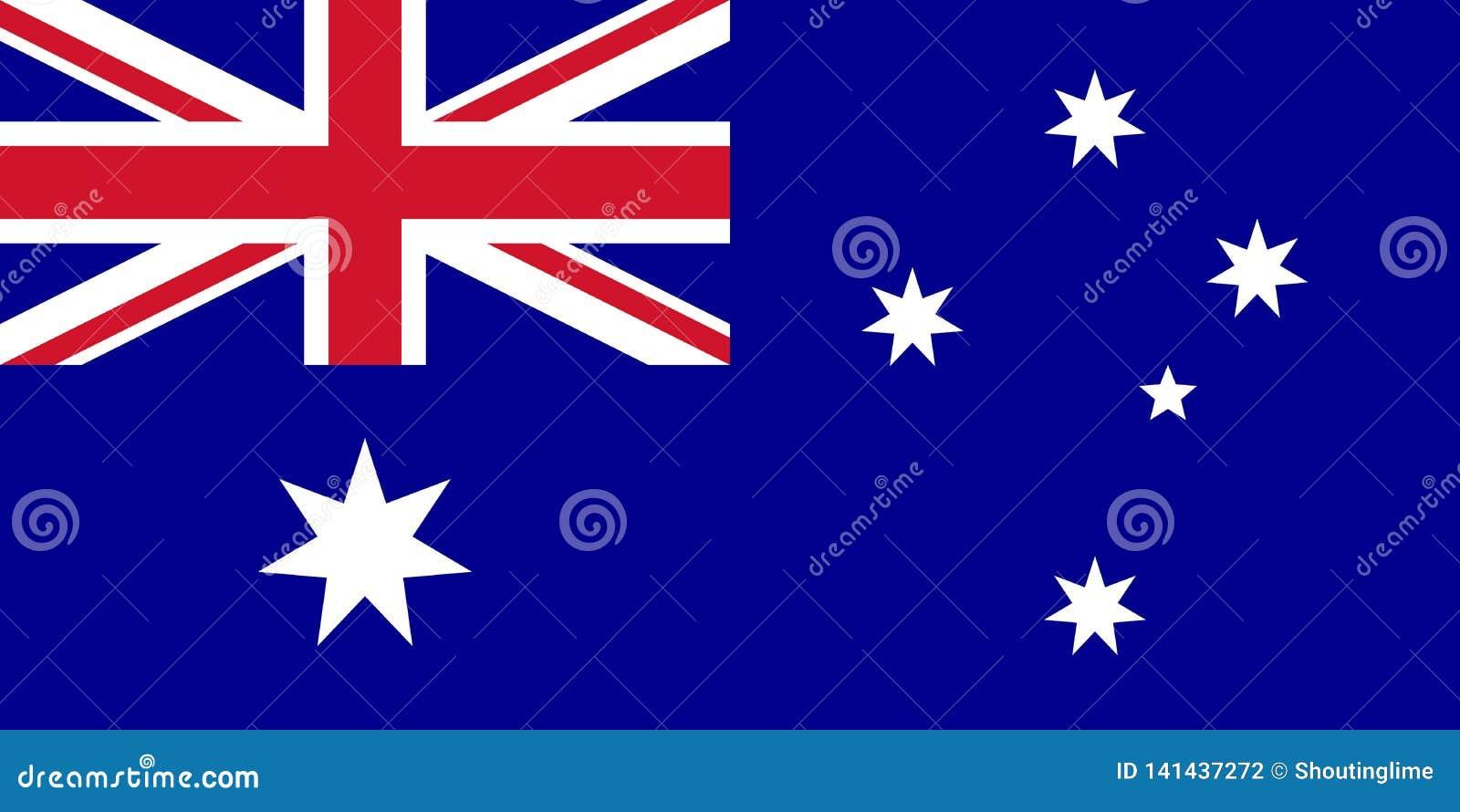 Το διάνυσμα σημαιών της Αυστραλίας απομονώνει για την τυπωμένη ύλη ή τον Ιστό