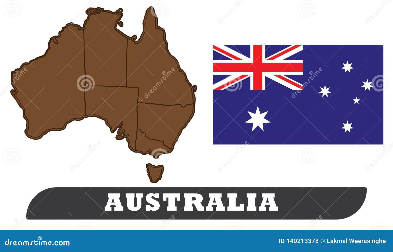 χάρτης σημαιών της Αυστραλίας