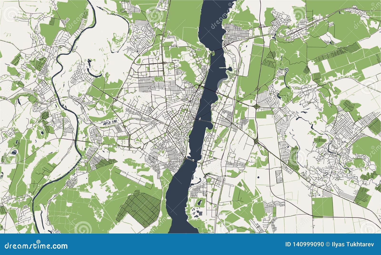 Χάρτης της πόλης Voronezh, Ρωσία