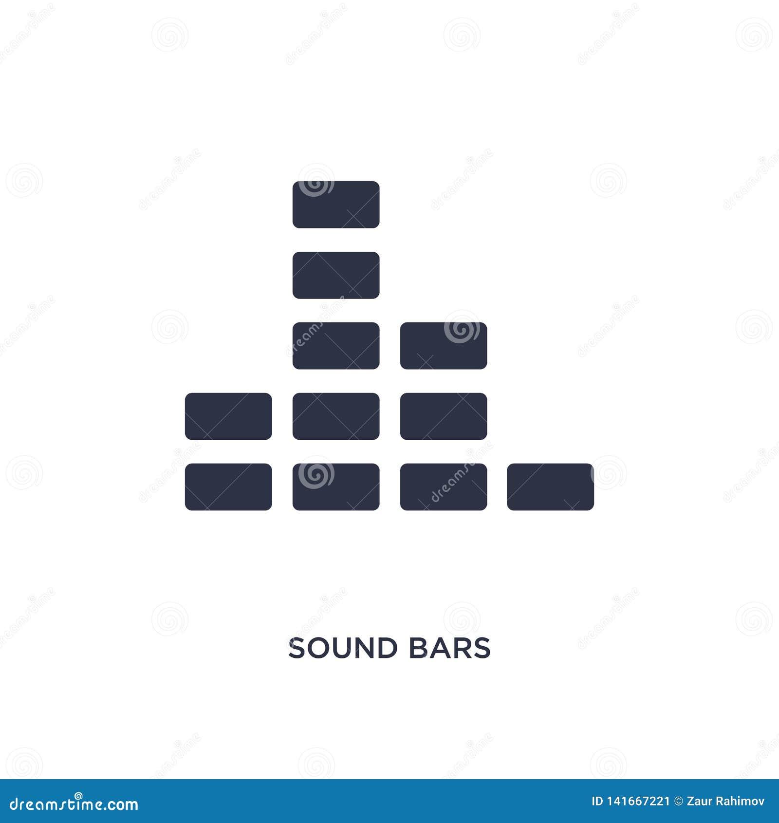 υγιές εικονίδιο φραγμών στο άσπρο υπόβαθρο Απλή απεικόνιση στοιχείων από την έννοια μουσικής