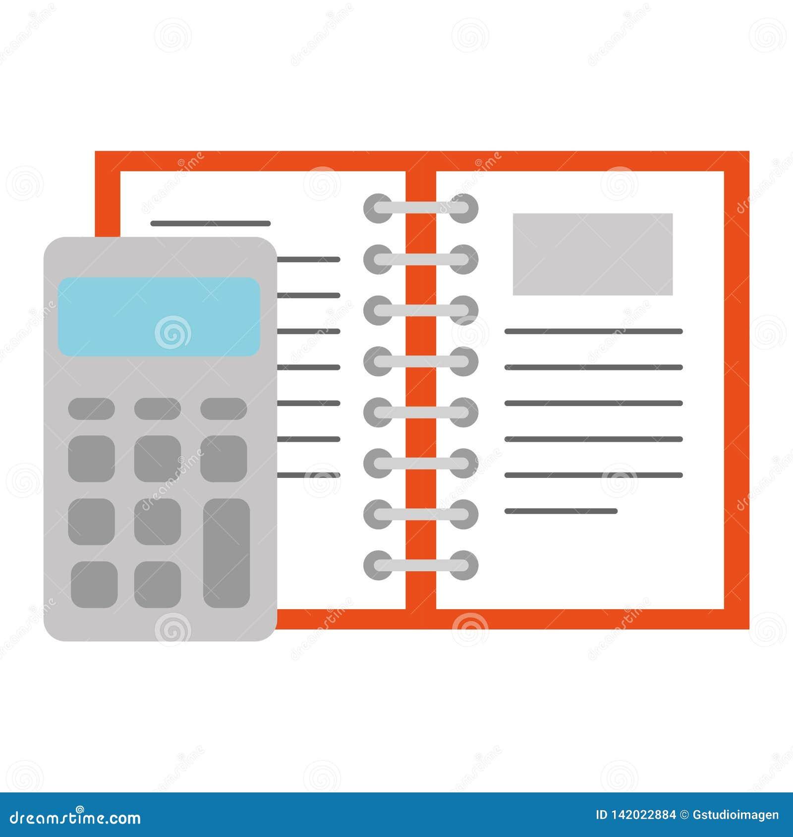 Υπολογιστής math με το βιβλίο σημειώσεων