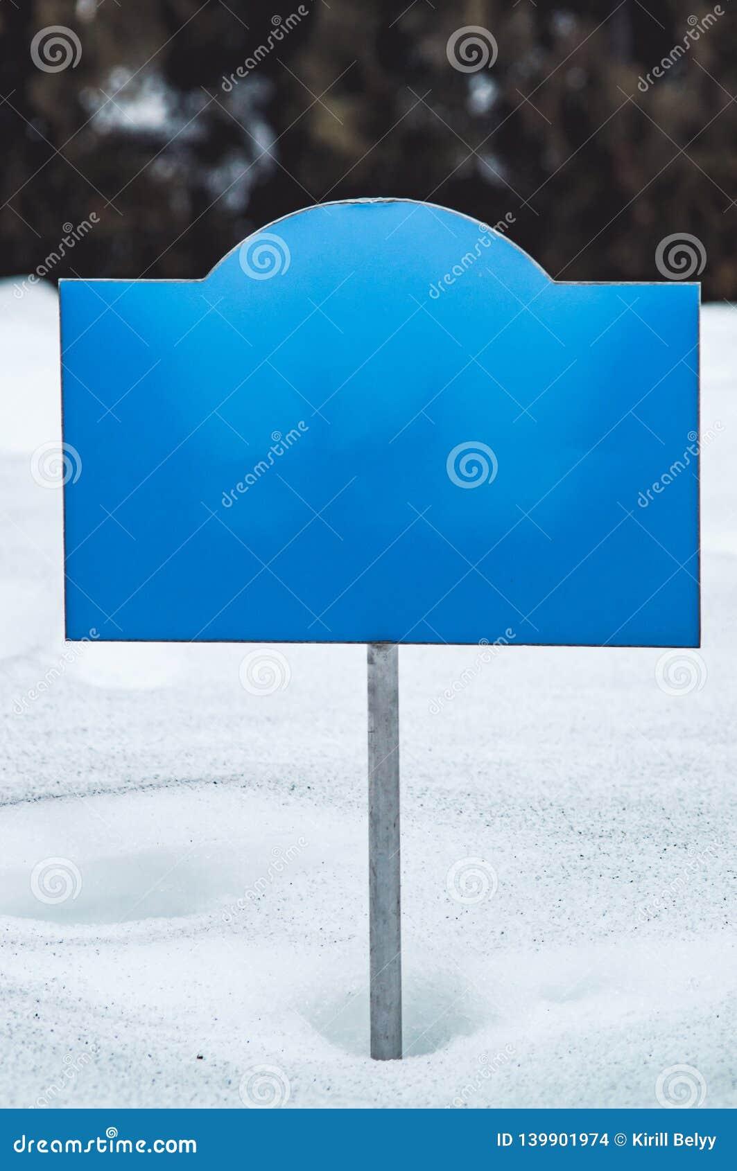 Πίνακας διαφημίσεων στο χιόνι