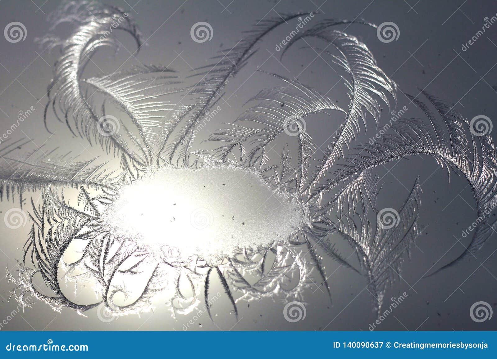 Παγετός παραθύρων σπινθηρίσματος Swirly
